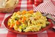 Garlic chicken pasta salad