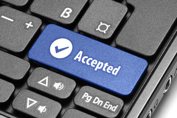 Accepted. Blue hot key on computer keyboard.