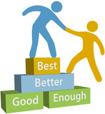 Help people good better best achievement