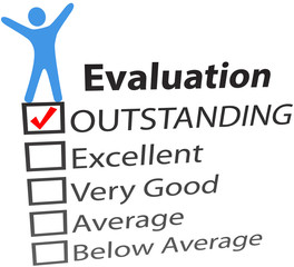 Person celebrate excellent HR evaluation
