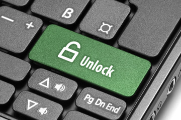 Unlock. Green hot key on computer keyboard.