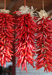 bunches of dried chili