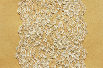 Beautiful lace on old paper
