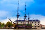 VOC Amsterdam. Dutch sailing ship