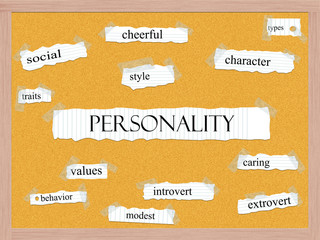 Personality Corkboard Word Concept