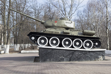 Танк Т-34 в городе Вологда