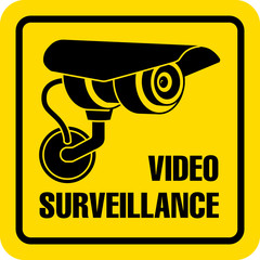 Video surveillance sign. CCTV.