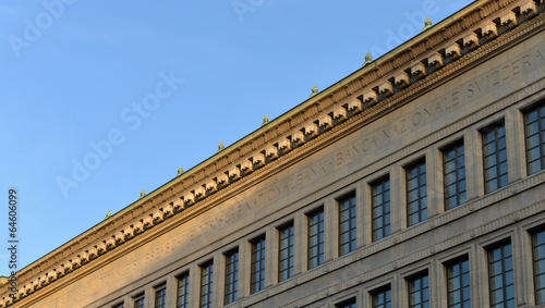 Leinwanddruck Bild banque nationale suisse