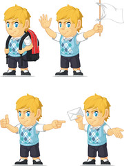 Blonde Rich Boy Customizable Mascot 9