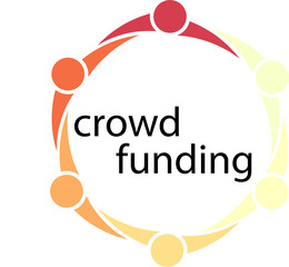Crowd Funding People Circle Concept