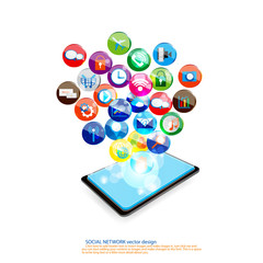 Social network with communication vector design