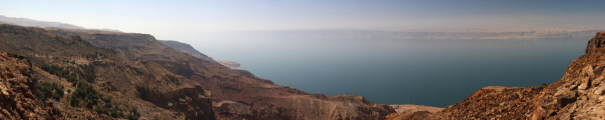 Dead sea coast on Jordan site