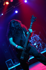 Guitarist under reflectors