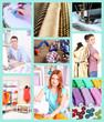 Collage of clothing designer