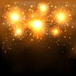 Golden firework