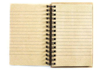 notebook with lined