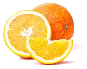orange fruit and his segments