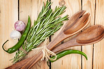 Herbs, spices and utensil