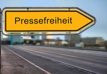 Strassenschild 14 - Pressefreiheit