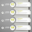 paper banner infographic elements
