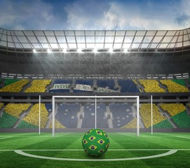 Football in brazilian colours