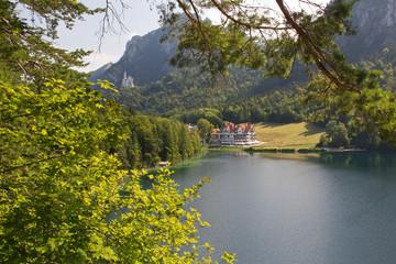 Alpsee mit Schloss Neuschwanstein