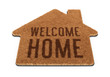 Brown house shape welcome mat - 64613286