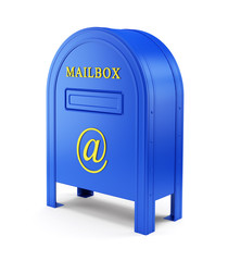Blue e-mail postbox