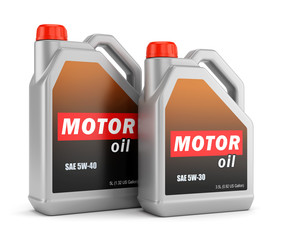 Two bottles of motor oil