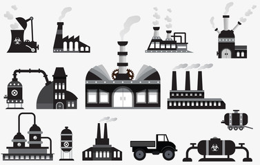 Factory icons (black & white)