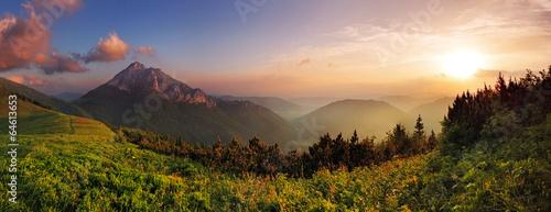 Roszutec peak in sunset - Slovakia mountain Fatra - 64613653