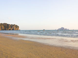 A beach in Ao Nang Krabi province southern Thailand.