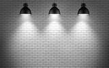 Fototapety lamps at brick wall