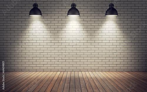 Fototapeta room with lamps