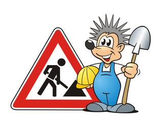 Hedgehog Construction Sign