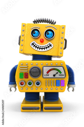Smiling toy robot - 64615207