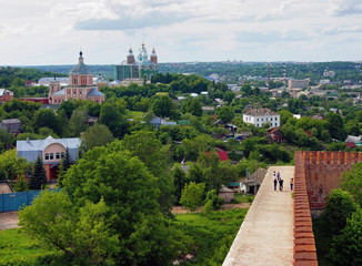View of the Assumption Cathedral from the Smolensk fortress wall