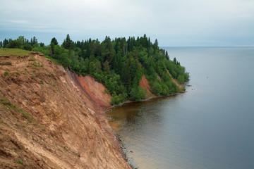Andoma Cape at the Lake Onega, Russia