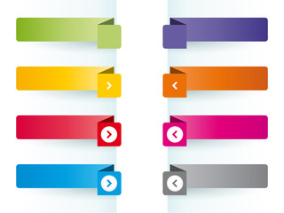 Simple colorful banners as bookmarks