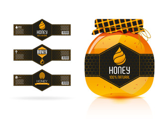 Honey banner - sticker design 2.