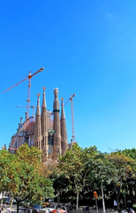 Sagrada Familia in Barecelona, Spain