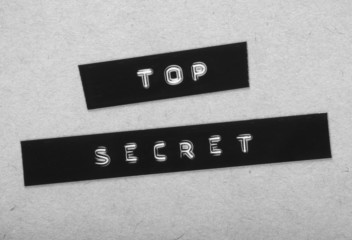 Top Secret Label in black and white