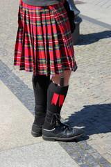 Schotte in Schottenrock