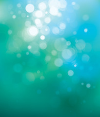 Vector blue bokeh background.