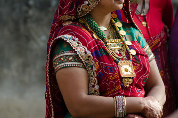 traditional costume , women , Rajasthan, India