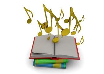 Music's Book Concept - 3D