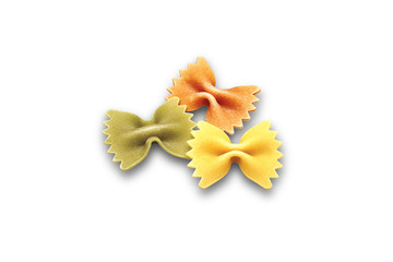 Butterfly Pasta in Three Colors