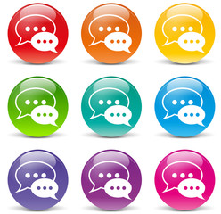 Vector chat icons