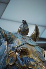 The original bronze statue of Emperor Marcus Aurelius