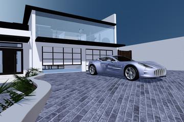 Ansichten einer modernen Villa